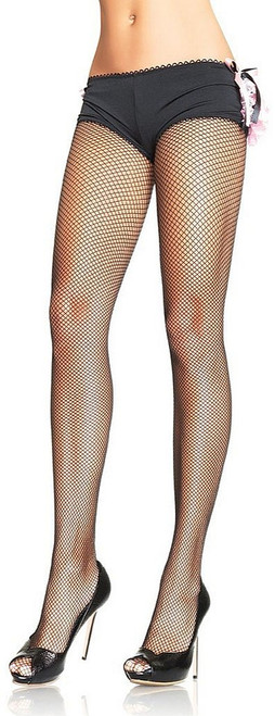 Plus Size Nylon Fishnet Pantyhose Black