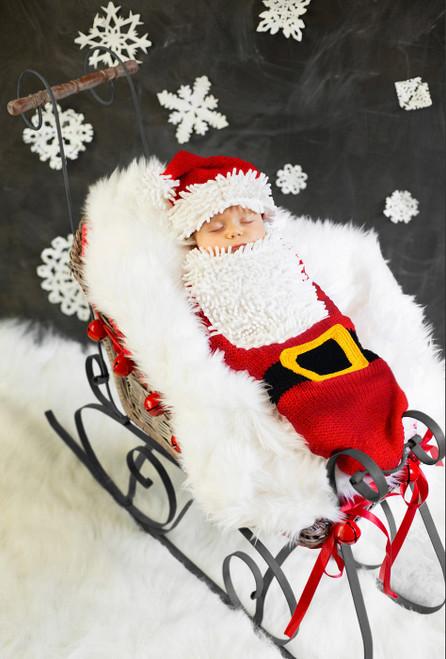 newborn baby santa costume