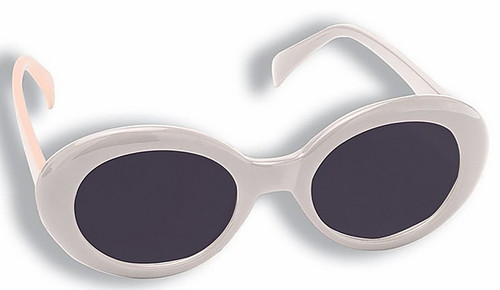 Mod Tinted White Glasses