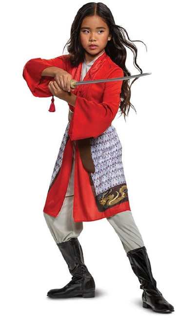 Red Girls Mulan Hero Costume