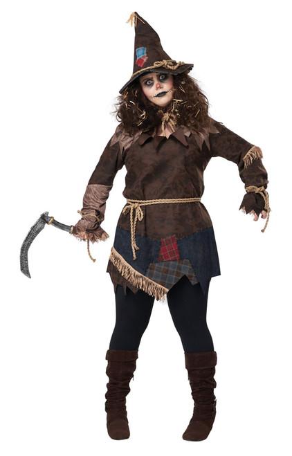 Creepy Scarecrow Plus Size Costume for Women