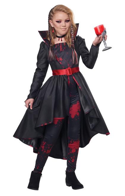 Bad Blood Vampiress Costume for Children