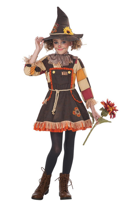 Patchwork Scarecrow Costume for Girls