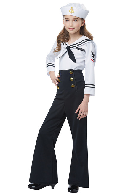 Navy Sailor Costume for Girls