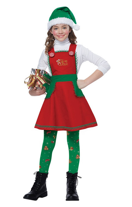 Child Elf in Charge Costume