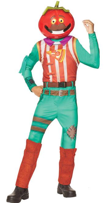 Fortnite Tomato Head Skin Boy Costume