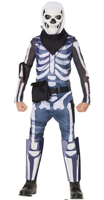 Fortnite Skull Trooper Boy Skin Costume