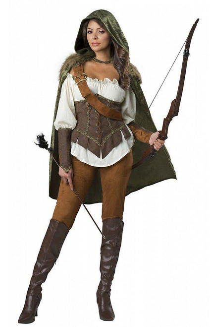 Robin Hood Woman Huntress Costume
