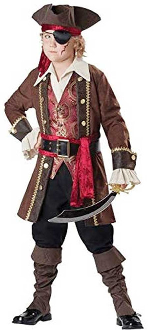 Captain Skull Duggery Pirate Costume for Boys