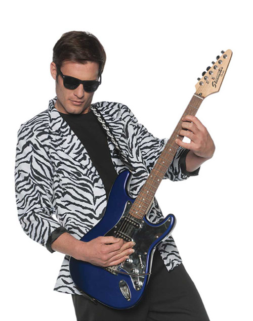 80s Zebra Blazer Rock Star Costume for Men