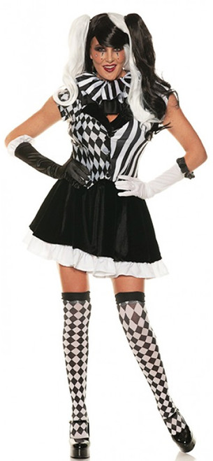 Jester Clown Woman Costume
