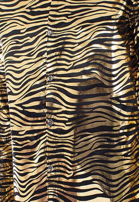 Sequin Tiger King Gold Shirt