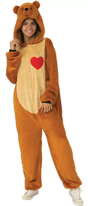 Teddy Bear Cozy Hooded Jumpsuit Costume