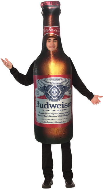 budweiser bottle costume for men