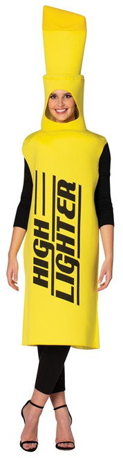 yellow woman highlighter costume