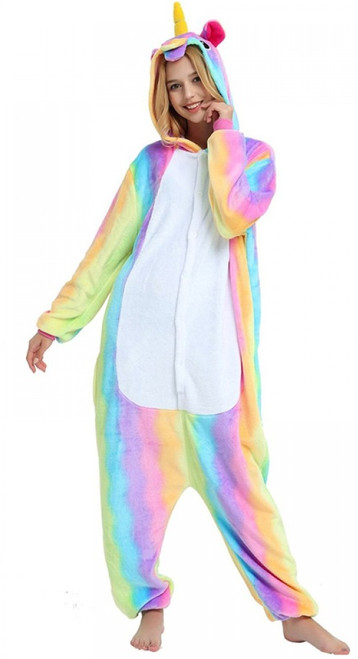 rainbow unicorn onesie for women