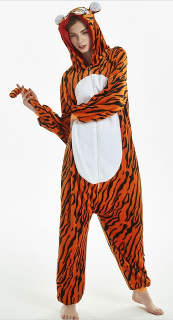 tiger onsie costume for women
