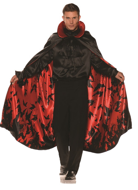 satin mens bat pattern cape