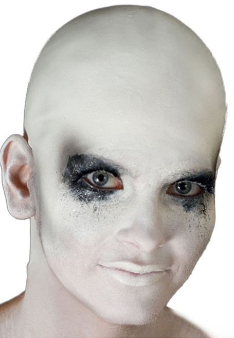 white mens bald cap