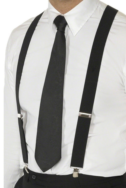 Black Suspenders costume accessory