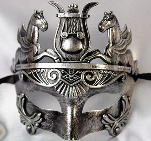 emperor pegasus mask in silver