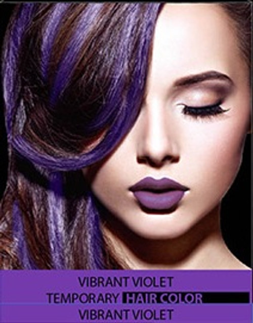temporary hair colour dye vibrant violet