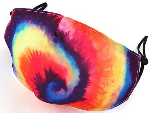 corona covid tie dye reusable mask