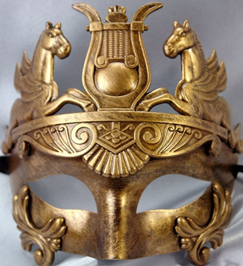 pegasus emperor mask in gold