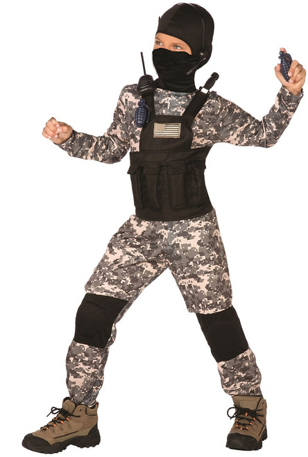 navy seal camo costume for children