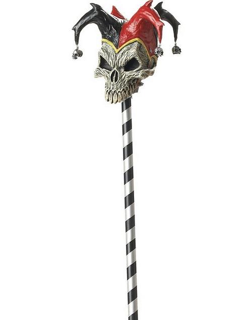 jester prop skull cane