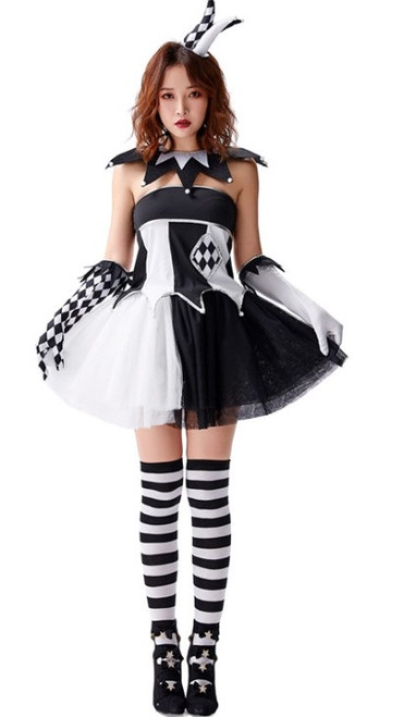 jester clown womens costume