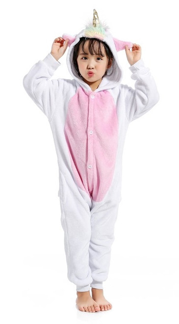 pink unicorn girls costume onesie