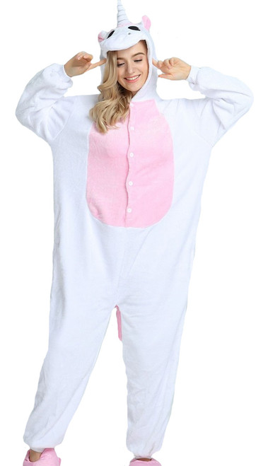 unicorn onesie womens costume in pink