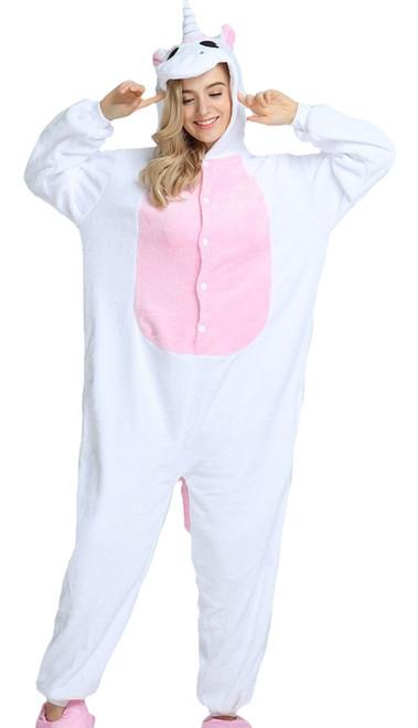 unicorn onesie womens costume in pink