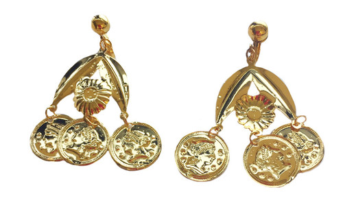gypsy gold coin earrings