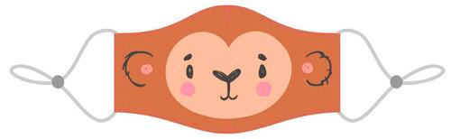 Kids reusable monkey masks