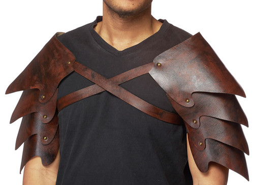 Leatherlike medieval shoulder armor