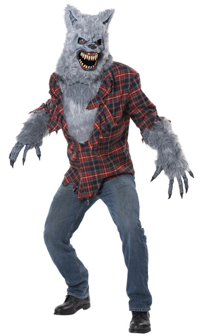 Gray Lycan scary werewolf adult costume