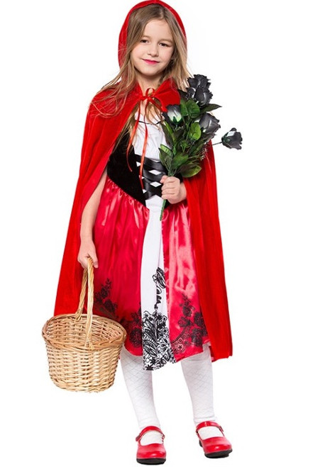 Red riding girls classic costume