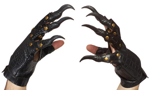 Realistic Leatherlike Witch Gloves