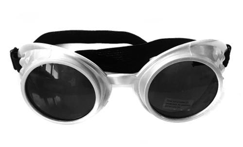 Steampunk Silver Goggles