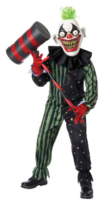 Crazy Eyed Clown Kids Costume