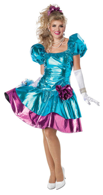 Blue 80's Party Dress Costume