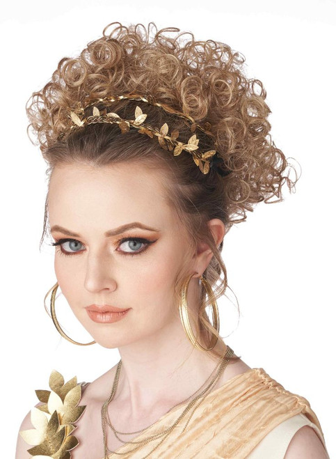 Greco-Roman Goddess Blonde Wig  Partial Clip On