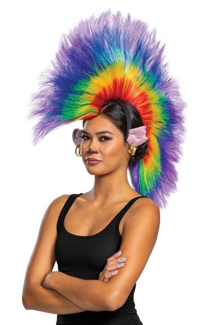 Trolls 2 Barb Rainbow Adult Wig