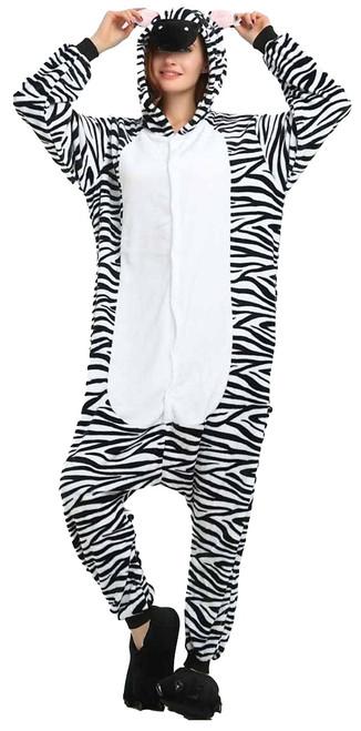 Zebra Onesie Adult Costume