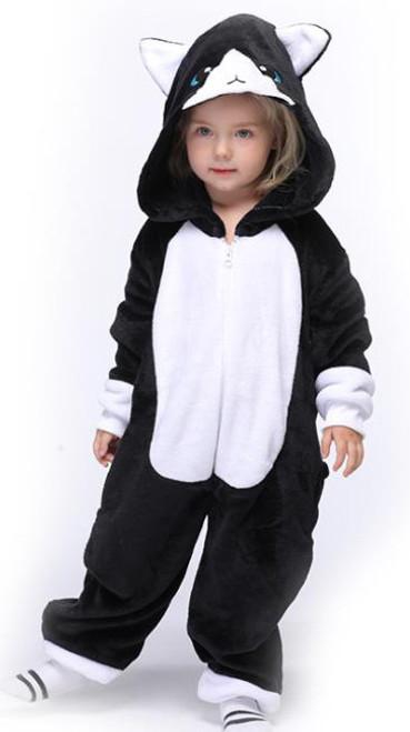 Black Cat Kid Onesie Costume