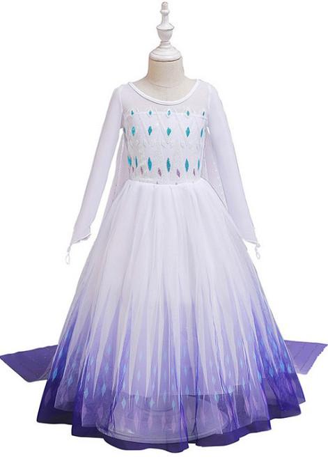 Frozen Elsa White Dress Girls Costume