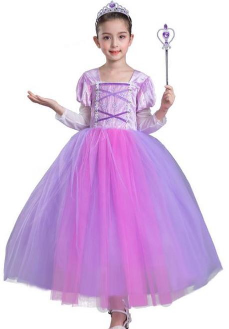 Princess Rapunzel Girl Costume