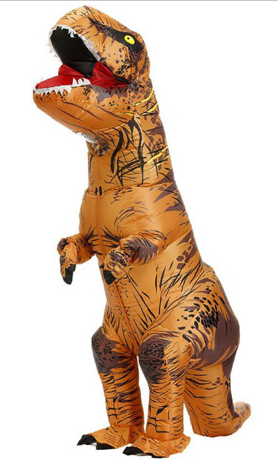 T-Rex Inflatable Adult Brown Costume
